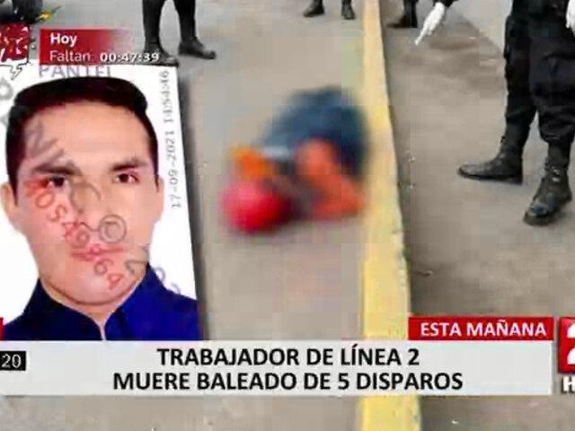 Ate: obrero de Línea 2 fue asesinado a balazos
