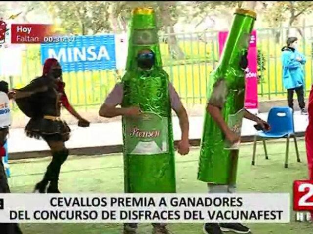 Ministerio de Salud premiará a los ganadores del concurso de disfraces del Vacuna Fest