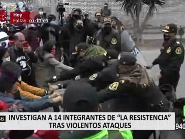 """Investigan a 14 integrantes de """"La Resistencia"""" tras violentos ataques"""
