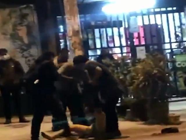 Los Olivos: cansados de la delincuencia vecinos detienen y golpean a ladrón de celulares
