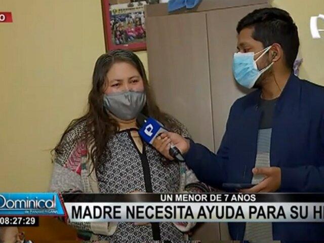 Madre pide ayuda para tratamiento y medicinas de su hijo con cáncer