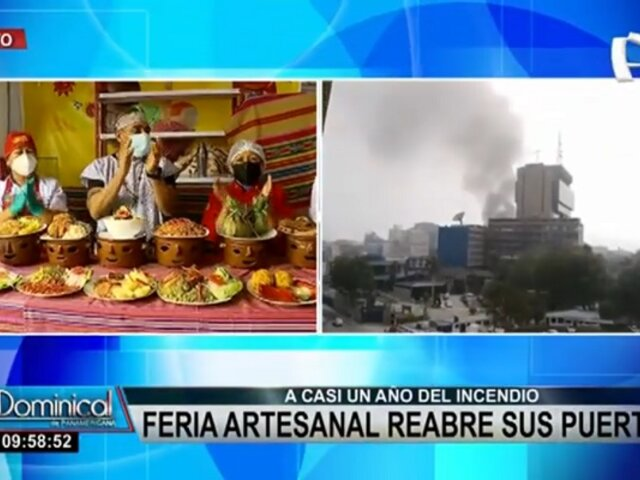 Cercado de Lima: Feria artesanal reabre sus puertas tras casi un año de incendio