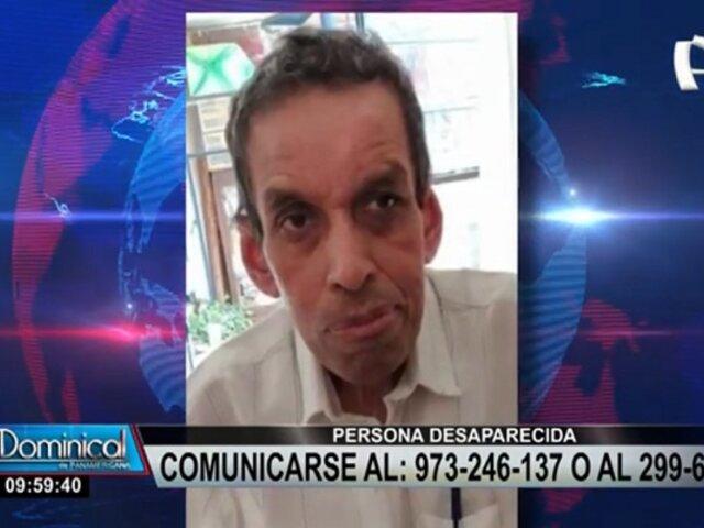 ¡Desaparecido! Familia busca a hombre de 60 años visto por última vez en Cercado de Lima