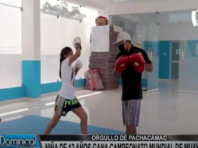 Orgullo del Perú: niña de 12 años gana campeonato mundial de Muay Thai