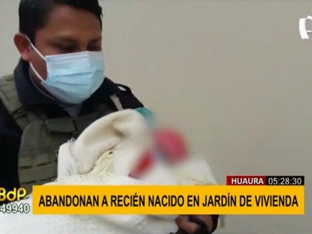 Huaura: abandonan a bebé recién nacido en jardín de una vivienda