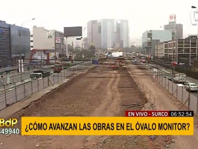 Óvalo Monitor: tráfico fluido pese a obras por construcción del paso a desnivel