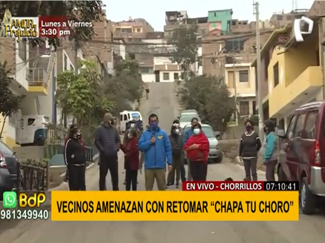 """Chorrillos: vecinos advierten con volver a poner en práctica campaña """"Chapa tu choro"""""""