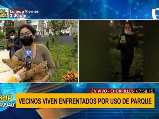 Chorrillos: denuncian que vecina no permite pasear mascotas en parque