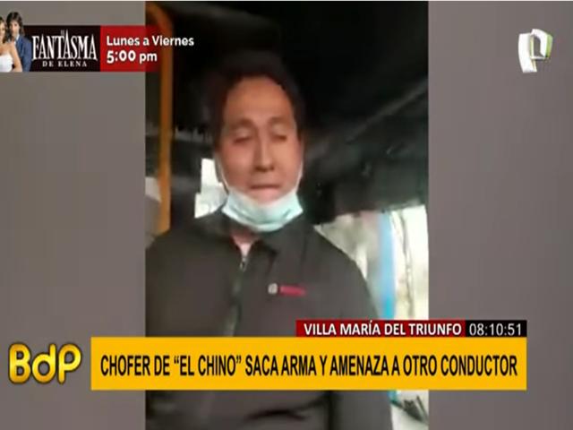 VMT: Chofer de bus sacó arma y amenazó a otro conductor