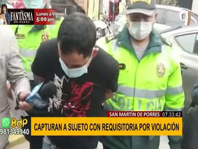 SMP: tras paciente seguimiento capturan sujeto que violó y golpeó brutalmente a su víctima