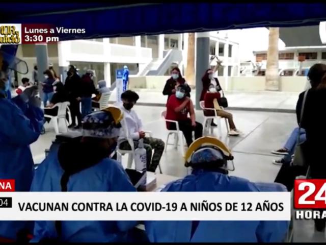 Tacna: Minsa señala que no autorizó vacunación a menores de 12 sin comorbilidades