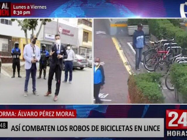 Serenazgo de Lince combate constantes robos de bicicletas
