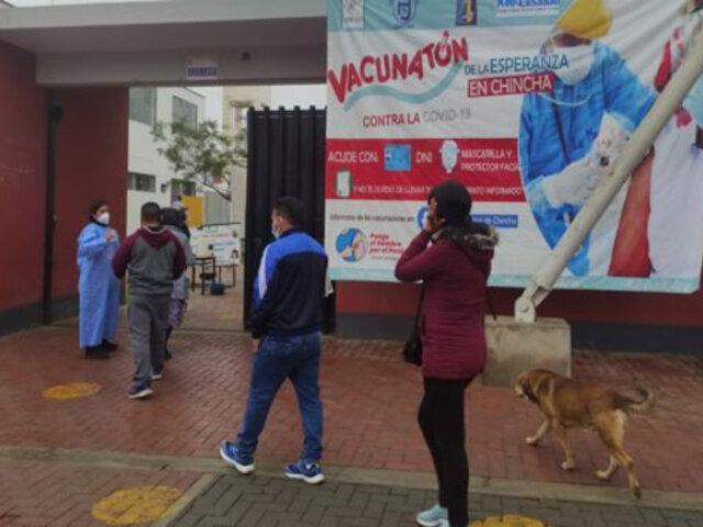 """Director de Salud de Ica: cantidad de limeños vacunados en Chincha """"es un porcentaje menor"""""""