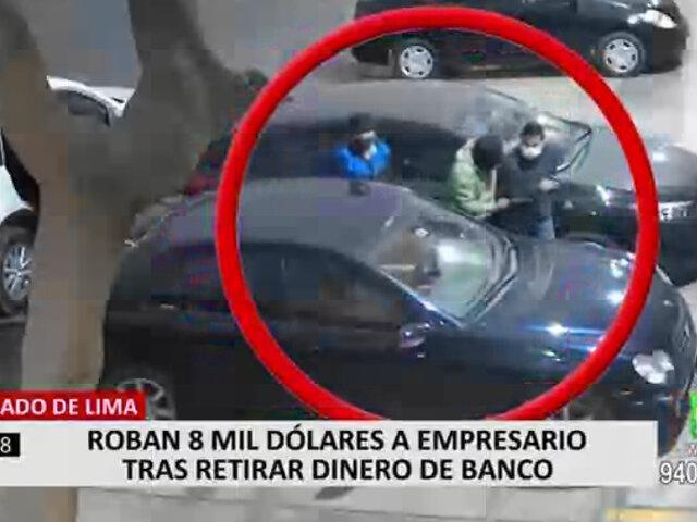 Cercado de Lima: 'Marcas' robaron 8 mil dólares a joven que cobró cheque