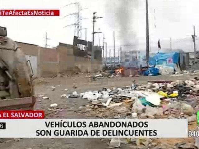 VES: vecinos denuncian que vehículos abandonados son guarida de delincuentes