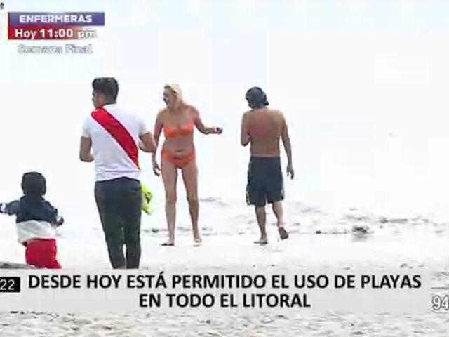 Playas comenzaron a recibir a bañistas este lunes