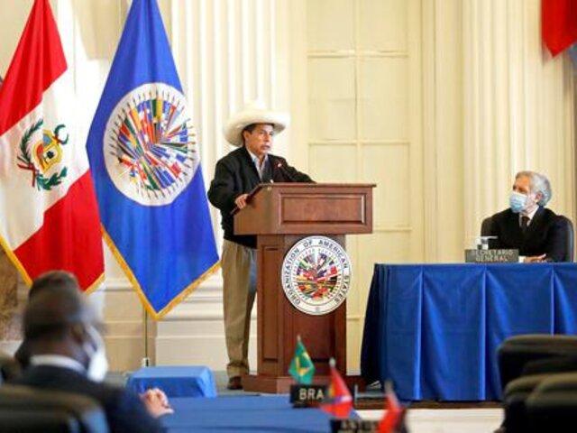 """Pedro Castillo ante la OEA: """"La corrupción es un gran problema en mi país"""""""