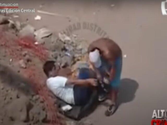 'En la Mira': cámaras captan violento asalto en las calles de Ate
