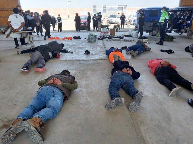 Chiclayo: PNP detuvo a 16 miembros de una banda de tráfico de terrenos