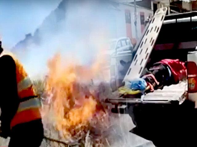 Cusco: gerente municipal fallece en incendio forestal al resbalar a abismo de 120 metros