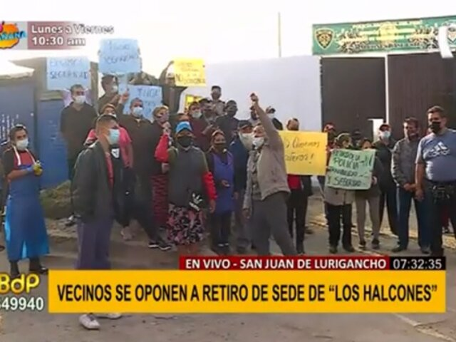 """SJL: vecinos protestan para evitar retiro de puesto policial """"Los Halcones"""""""