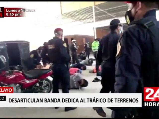 Chiclayo: caen traficantes de terrenos con arsenal en su poder