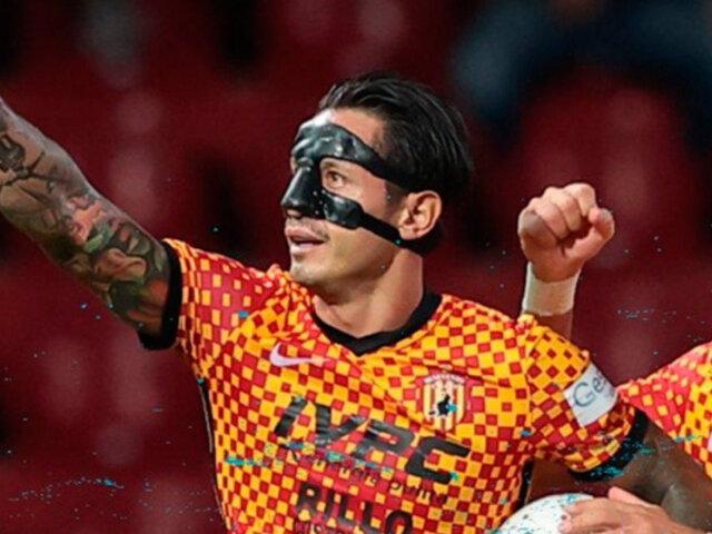 Gianluca Lapadula: mira el hat trick del delantero del Benevento en la victoria ante Cittadella