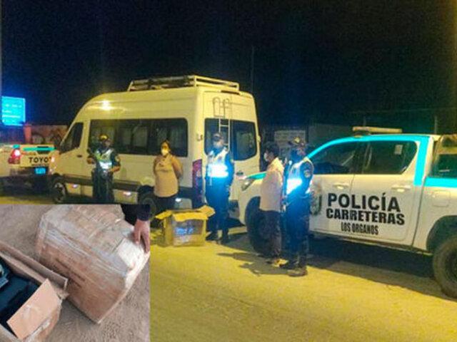 Piura: intervienen a peruano y ecuatoriana cuando trasladaban 34 armas de fuego en una minivan