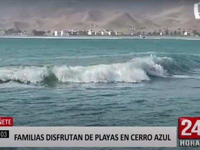 Cañete: familias disfrutaron de la playa tras autorización del Gobierno