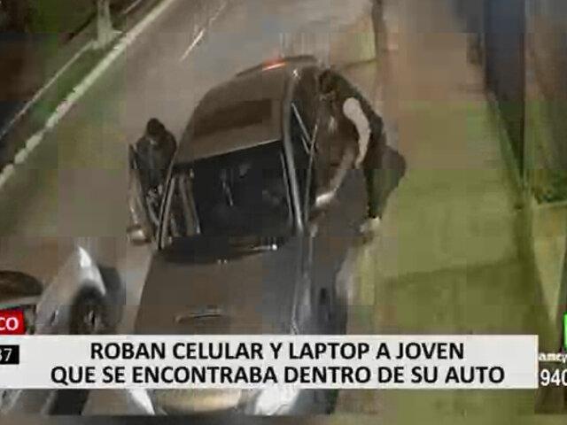 Surco: hombre fue asaltado mientras esperaba en su auto