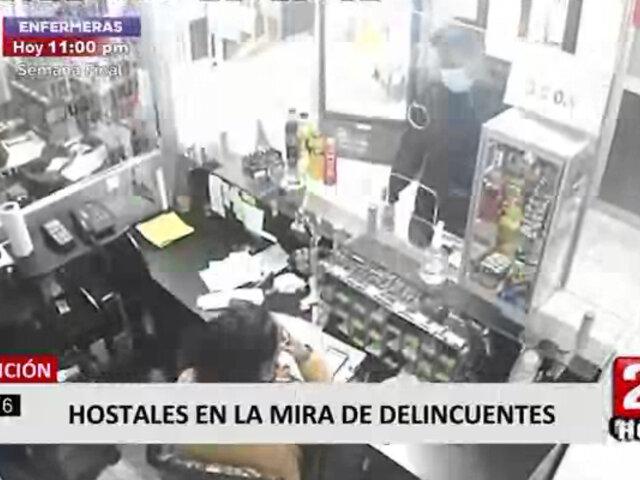 Breña: delincuente asalta dos hostales en una misma cuadra
