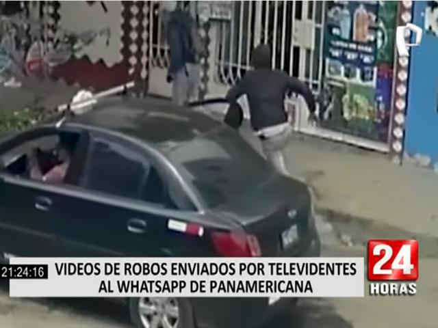 Televidentes de Panamericana envían videos de robos al WhatsApp del canal