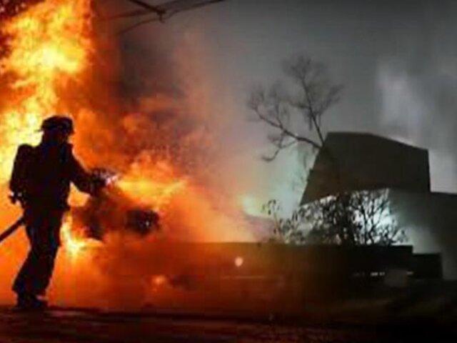 Chosica: Dos miembros del Ejército desaparecidos tras incendio en FAME