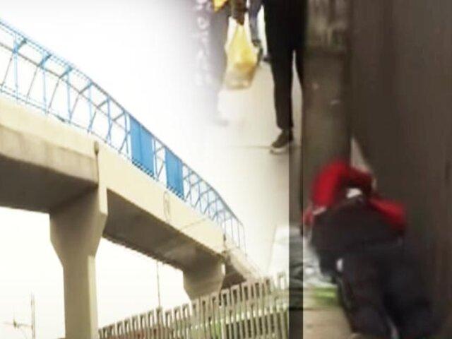 Vecinos de SJM denuncian que están sin puentes peatonales hace ocho meses