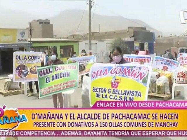 D'mañana y Municipalidad de Pachacámac llevan ayuda a 150 ollas comunes en Manchay