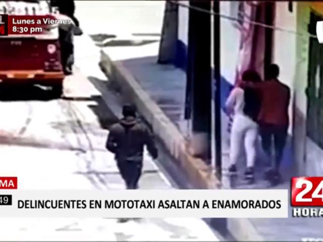 Tarma: cámaras graban a pareja víctima de asalto al paso