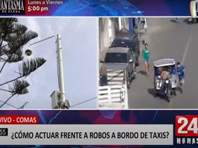Comas: asaltos a bordo de taxis se incrementan