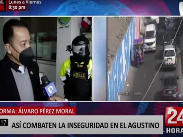 El Agustino combate a la delincuencia con cámaras de seguridad y patrullaje articulado
