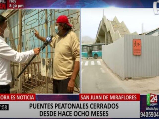 Línea 1 del Metro de Lima se pronunció tras denuncia de vecinos por cierres de puentes peatonales
