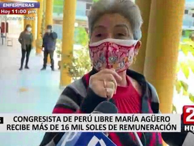 María Agüero afirmó que el salario que recibe como parlamentaria no le alcanza para nada