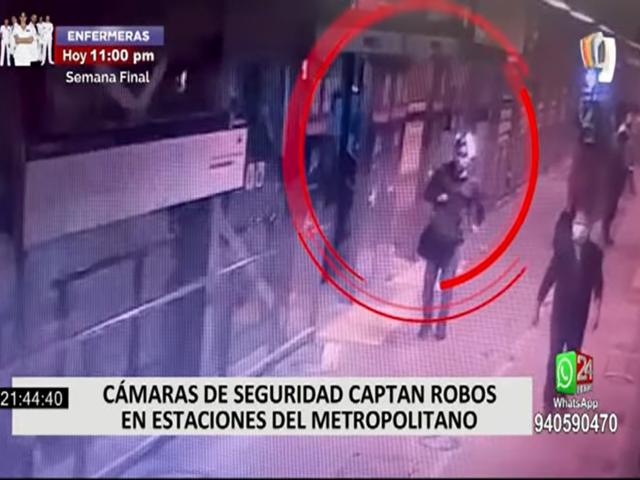 Cámaras de seguridad registran robos dentro de estaciones del Metropolitano