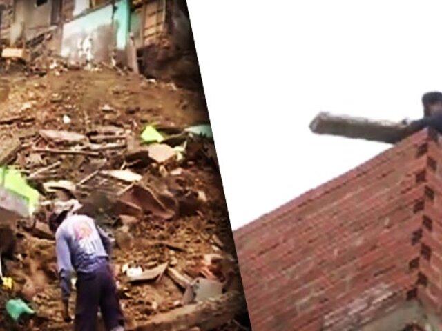 Chorrillos: Tras derrumbe por construcción informal solicitan a vecinos que dejen sus viviendas