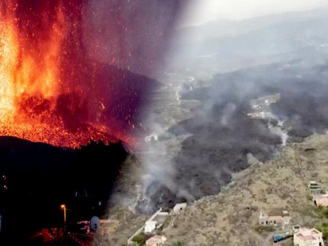 Volcán en erupción en La Palma: lava avanza, pero pierde velocidad