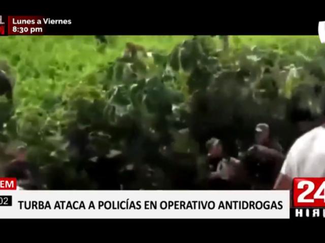 Vraem: turba ataca a policías durante operativo antidrogas