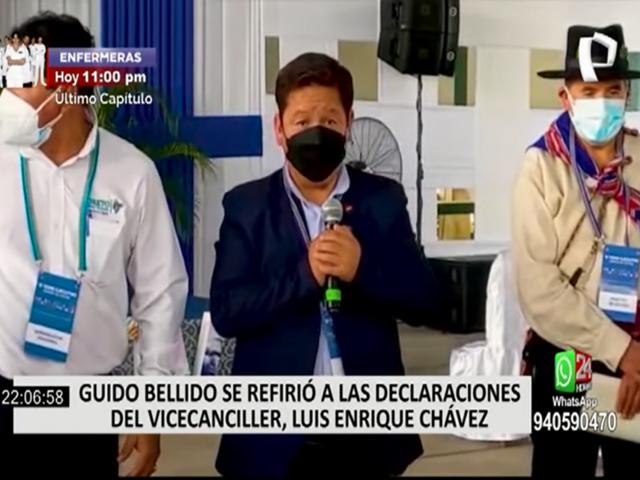 """Bellido señala que hubo una """"contradicción"""" entre el vicecanciller y Pedro Castillo"""