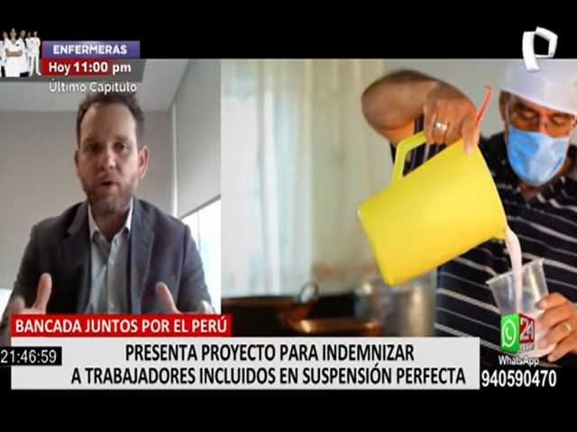 JP plantea proyecto para que empresas indemnicen a trabajadores que mandaron a suspensión perfecta