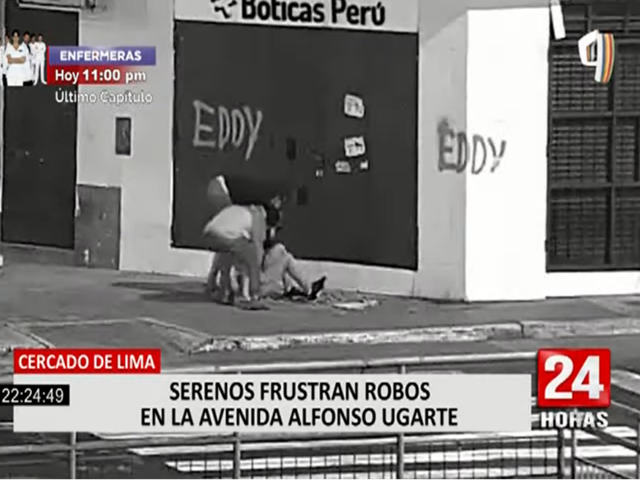 Serenos de Lima frustraron robos en avenida Alfonso Ugarte