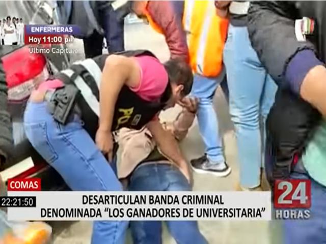 Comas: policía detiene a sujetos que intentaron asaltar casa de apuestas