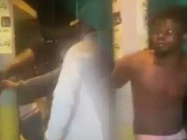 Chimbote: Vecinos capturan a extranjero por robar y casi lo linchan