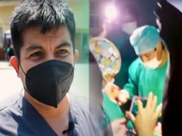 Médicos y enfermeras atendieron parto con luces de teléfonos en Tingo María